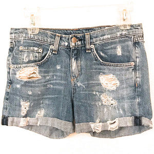 Rag & Bone Distressed Denim Shorts ~ A421